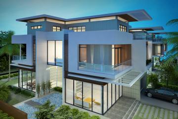 Thiết kế nhà biệt thự với vật liệu kính