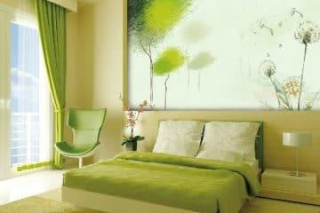 5 ý tưởng táo bạo về kính màu ốp tường