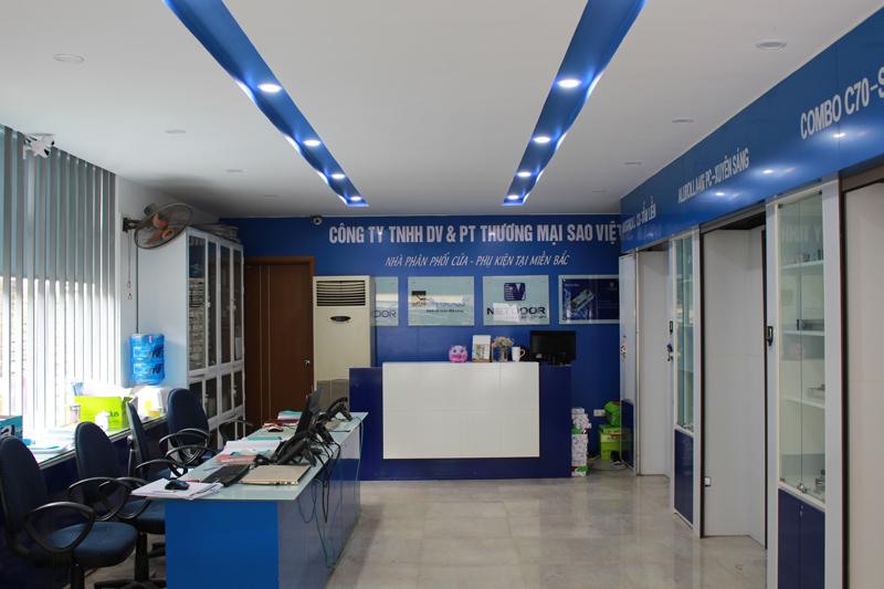 showroom công ty Sao Việt