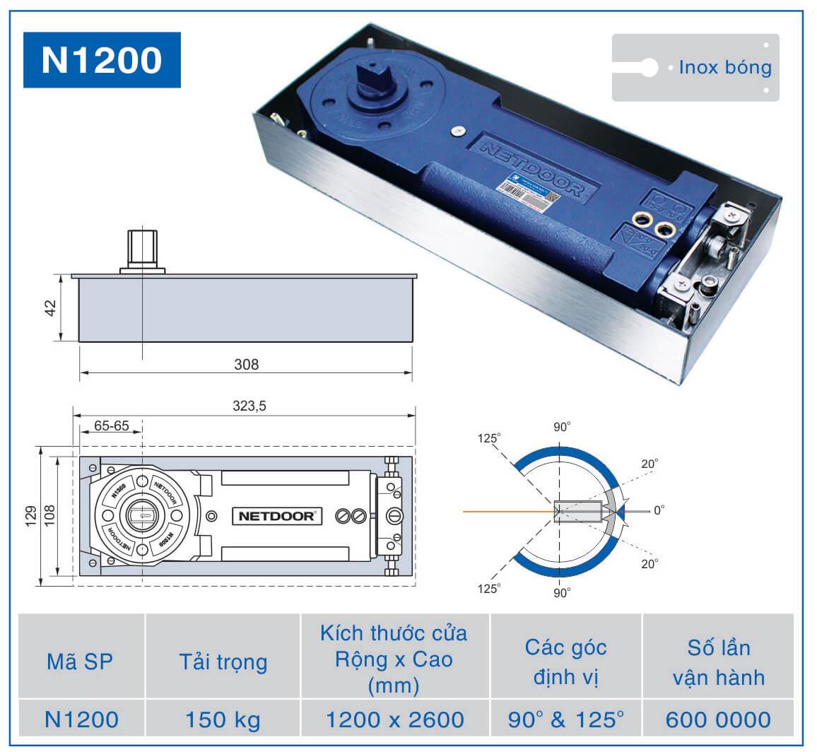 bản lề sàn netdoor n1200