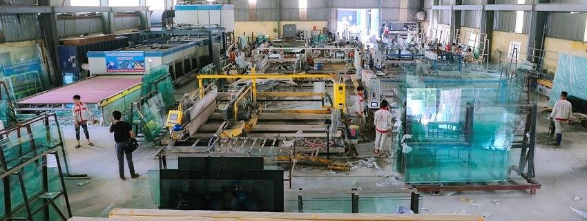 nhà máy sản xuất kính Á Châu