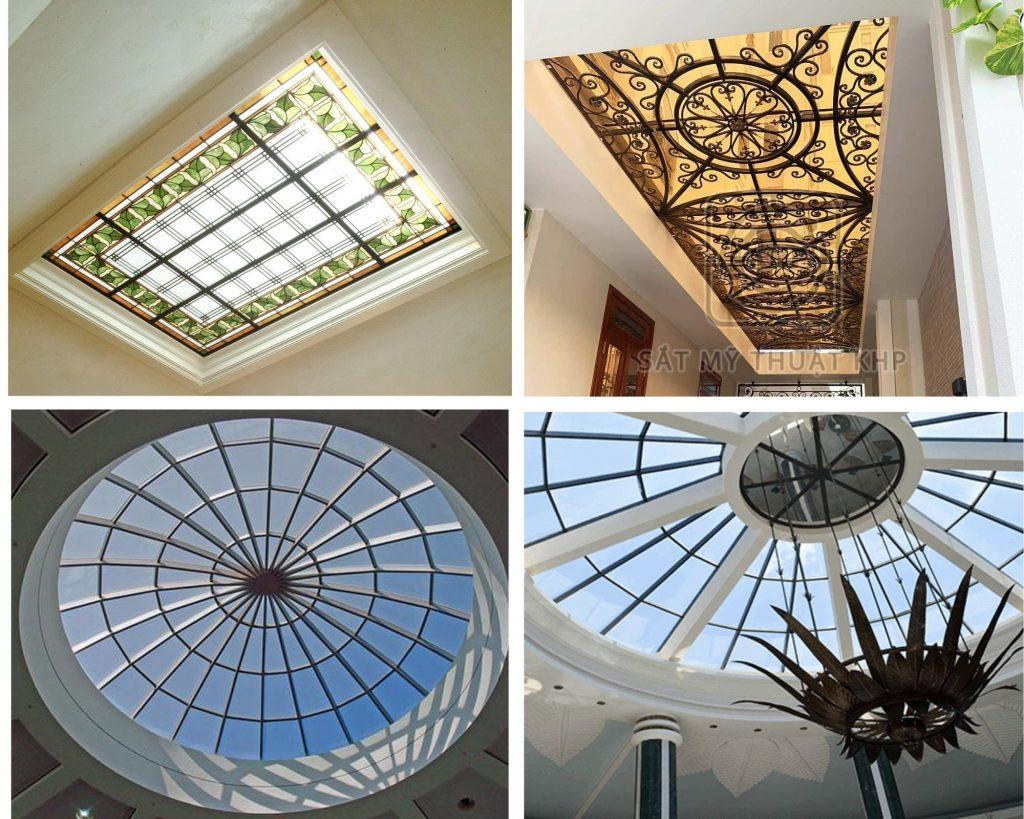 Mái kính giếng trời nghệ thuật với những kiểu dáng thiết kế tinh tế và độc đáo