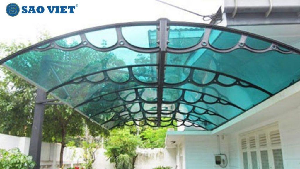 Mái kính nghệ thuật cho sân thượng
